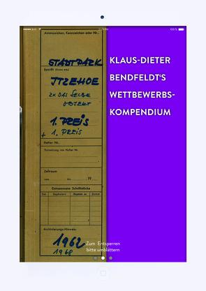 Klaus-Dieter-Bendfeldt's Wettbewerbskompendium von Bendfeldt,  Klaus-Dieter