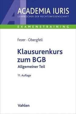 Klausurenkurs zum BGB Allgemeiner Teil von Fezer,  Karl-Heinz, Obergfell,  Eva Inés