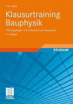 Klausurtraining Bauphysik von Lübbe,  Eva