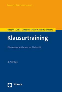 Klausurtraining von Boeckh,  Walter, Gietl,  Andreas, Längsfeld,  Alexander M.H., Raab-Gaudin,  Ursula, Rappert,  Klaus