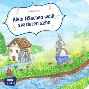 Klein Häschen wollt spazieren gehn. Mini-Bilderbuch. von Luzán,  Karina