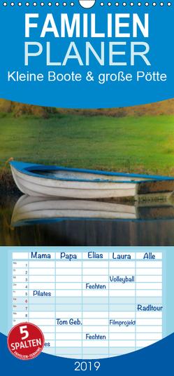 Kleine Boote & große Pötte / Geburtstagskalender – Familienplaner hoch (Wandkalender 2019 , 21 cm x 45 cm, hoch) von J. Sülzner / NJS-Photoraphie,  Norbert