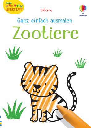 Kleine Kreativ-Werkstatt – Ganz einfach ausmalen: Zootiere von Brown,  Jenny, Robson,  Kirsteen