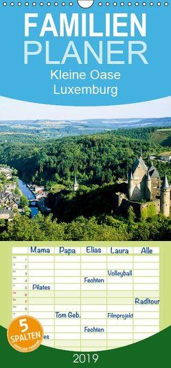 Kleine Oase Luxemburg – Familienplaner hoch (Wandkalender 2019 , 21 cm x 45 cm, hoch) von CALVENDO