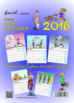 Kleiner Laufkalender 2016 von Hansel Cartoons