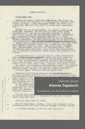 Kleines Tagebuch von Fuchs,  Claudia, Fuchs,  Manfred, Gross,  Volkmar