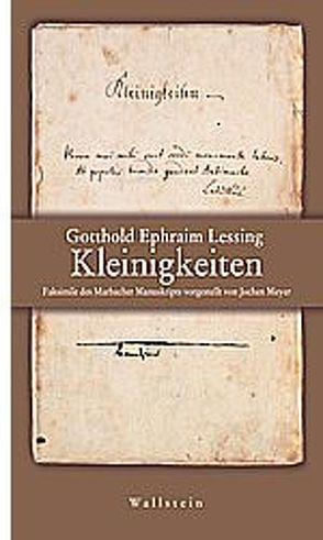 Kleinigkeiten von Lessing,  Gotthold E, Meyer,  Jochen