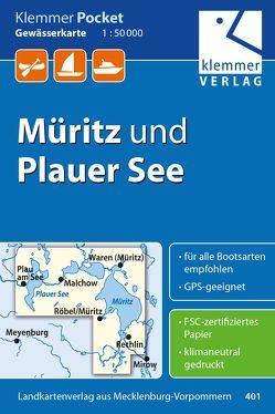 Klemmer Pocket Gewässerkarte Müritz und Plauer See von Goerlt,  Heidi, Klemmer,  Klaus, Kuhlmann,  Christian, Wachter,  Thomas
