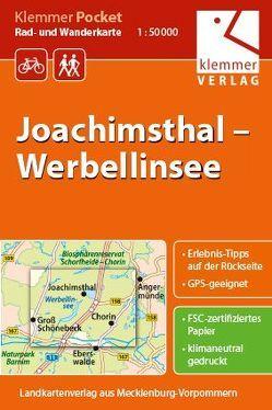 Klemmer Pocket Rad- und Wanderkarte Joachimsthal – Werbellinsee von Goerlt,  Heidi, Klemmer,  Klaus, Kuhlmann,  Christian, Wachter,  Thomas