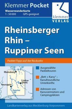 Klemmer Pocket Wasserwanderkarte Rheinsberger Rhin – Ruppiner Seen von Goerlt,  Heidi, Klemmer,  Klaus, Kuhlmann,  Christian, Wachter,  Thomas