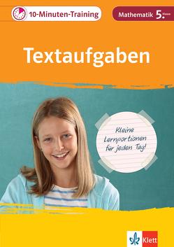 Klett 10-Minuten-Training Mathematik Textaufgaben 5. Klasse