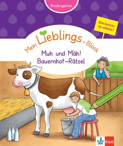 Klett Mein Lieblings-Block Rätsel mit muh und mäh von Vorbach,  Britta