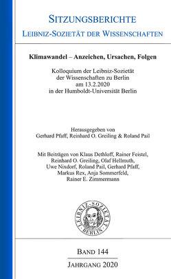 Klimawandel – Anzeichen, Ursachen, Folgen von Greiling,  Reinhord O., Pail,  Roland, Pfaff,  Gerhard