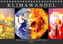 Klimawandel. Auswirkungen auf Tiere, Ökosysteme und den Menschen (Tischkalender 2021 DIN A5 quer) von Hurley,  Rose
