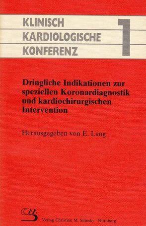 Klinisch-Kardiologische Konferenz 1 von Lang,  Erich, Silinsky,  Christian M