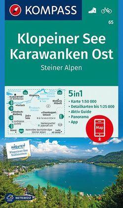 Klopeiner See, Karawanken Ost, Steiner Alpen von KOMPASS-Karten GmbH