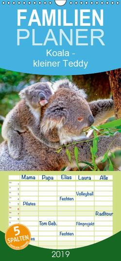 Koala – kleiner Teddy – Familienplaner hoch (Wandkalender 2019 , 21 cm x 45 cm, hoch) von Roder,  Peter