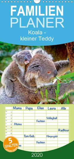 Koala – kleiner Teddy – Familienplaner hoch (Wandkalender 2020 , 21 cm x 45 cm, hoch) von Roder,  Peter