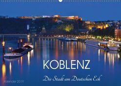Koblenz Die Stadt am Deutschen Eck (Wandkalender 2019 DIN A2 quer) von Heußlein,  Jutta