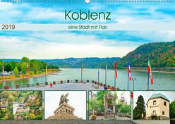 Koblenz – eine Stadt mit Flair (Wandkalender 2019 DIN A2 quer) von Schwarze,  Nina