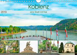 Koblenz – eine Stadt mit Flair (Wandkalender 2019 DIN A4 quer) von Schwarze,  Nina