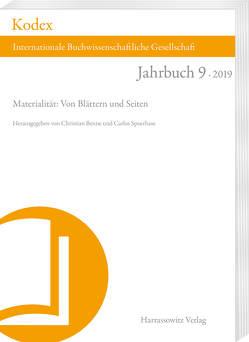 KODEX 9 (2019): Materialität von Benne,  Christian, Spoerhase,  Carlos