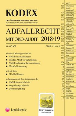 Kodex Abfallrecht und Öko-Audit 2018/19 von Doralt,  Werner, Hochholdinger,  Christine