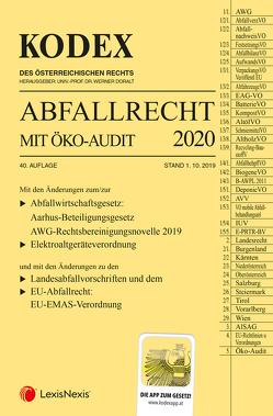 Kodex Abfallrecht und Öko-Audit 2020 von Doralt,  Werner, Hochholdinger,  Christine