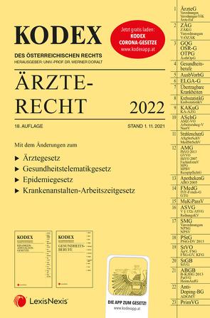 KODEX Ärzterecht 2022 – inkl. App von Doralt,  Werner, Stärker,  Lukas