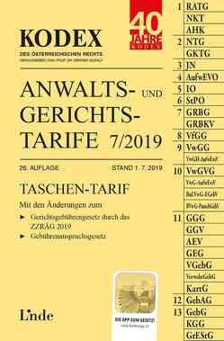 KODEX Anwalts- und Gerichtstarife 7/2019 von Dokalik,  Dietmar, Doralt,  Werner