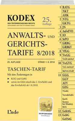 KODEX Anwalts- und Gerichtstarife 9/2018 von Dokalik,  Dietmar, Doralt,  Werner