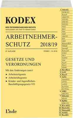 KODEX Arbeitnehmerschutz 2018/19 von Doralt,  Werner, Marat,  Eva-Maria