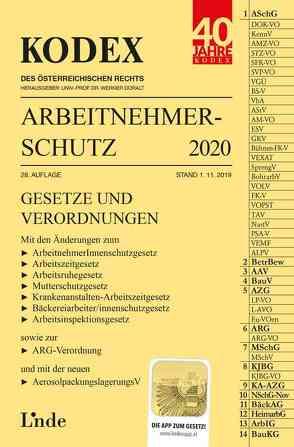 KODEX Arbeitnehmerschutz 2020 von Doralt,  Werner, Marat,  Eva-Maria