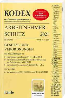 KODEX Arbeitnehmerschutz 2021 von Doralt,  Werner, Marat,  Eva-Maria
