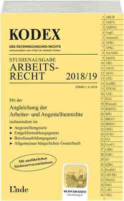 KODEX Arbeitsrecht 2018/19 von Doralt,  Werner, Ercher-Lederer,  Gerda, Stech,  Edda