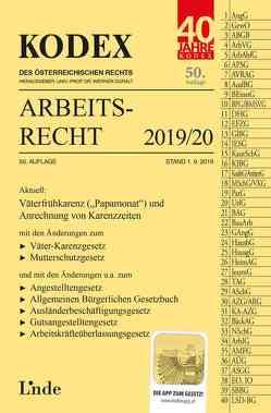 KODEX Arbeitsrecht 2019/20 von Doralt,  Werner, Ercher-Lederer,  Gerda, Stech,  Edda