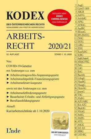 KODEX Arbeitsrecht 2020/21 von Doralt,  Werner, Ercher-Lederer,  Gerda, Stech,  Edda