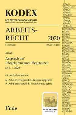 KODEX Arbeitsrecht 2020 von Doralt,  Werner, Ercher-Lederer,  Gerda, Stech,  Edda