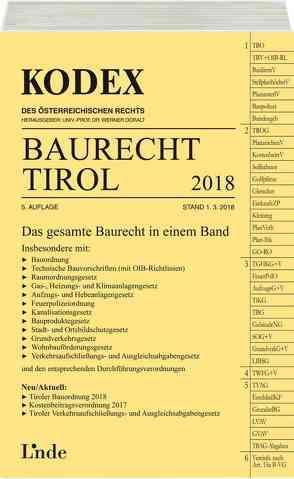 KODEX Baurecht Tirol 2018 von Doralt,  Werner, Gstir,  Barbara