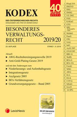 KODEX Besonderes Verwaltungsrecht 2019/20 von Doralt,  Werner, Ennöckl,  Daniel