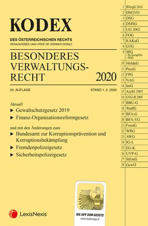 KODEX Besonderes Verwaltungsrecht 2020 von Doralt,  Werner, Ennöckl,  Daniel