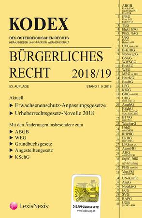 KODEX Bürgerliches Recht 2018/19 von Doralt,  Werner, Mohr,  Franz