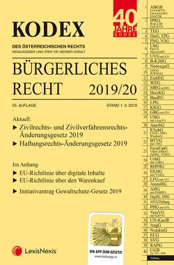 KODEX Bürgerliches Recht 2019/20 von Doralt,  Werner, Mohr,  Franz