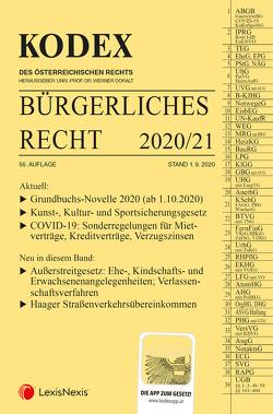 KODEX Bürgerliches Recht 2020/21 von Doralt,  Werner, Mohr,  Franz