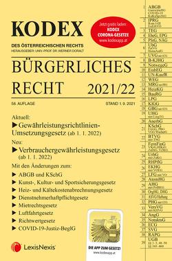 KODEX Bürgerliches Recht 2021/22 – inkl. App von Doralt,  Werner, Mohr,  Franz