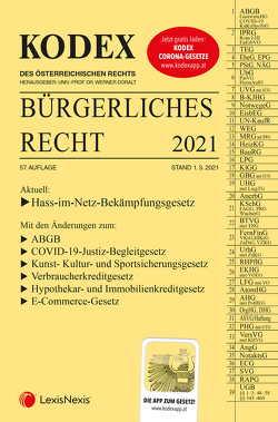 KODEX Bürgerliches Recht 2021 von Doralt,  Werner, Mohr,  Franz