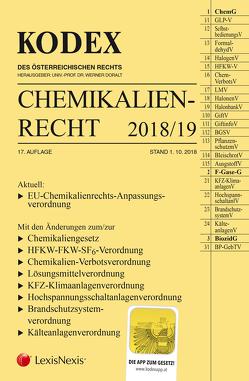 KODEX Chemikalienrecht 2018/19 von Doralt,  Werner, Weinberger,  Franz