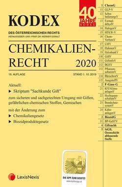 KODEX Chemikalienrecht 2020 von Doralt,  Werner, Weinberger,  Franz