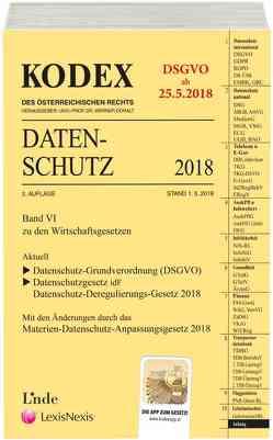 KODEX Datenschutz 2018 von Doralt,  Werner, Pachinger,  Michael