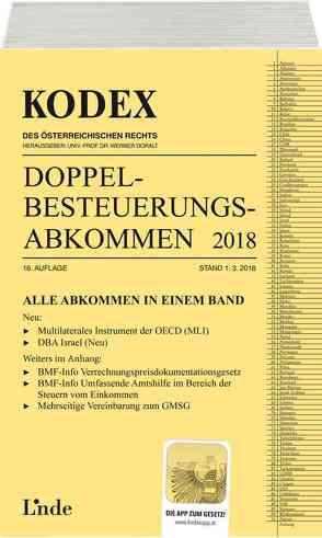 KODEX Doppelbesteuerungsabkommen 2018 von Doralt,  Werner, Herdin-Winter,  Judith, Schmidjell-Dommes,  Sabine